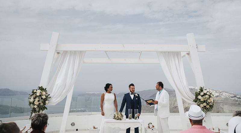 Mariage à Santorin Grèce Creativ Voyages