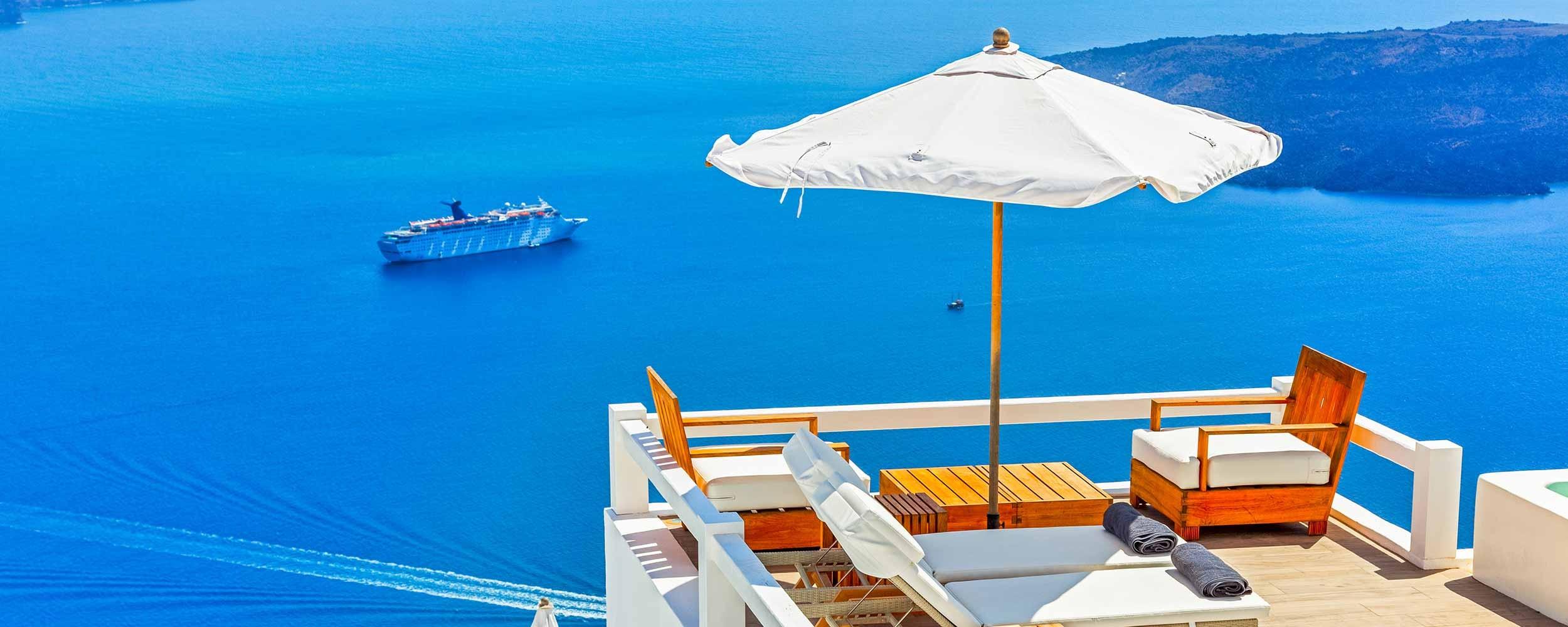 Santorin détente vue mer