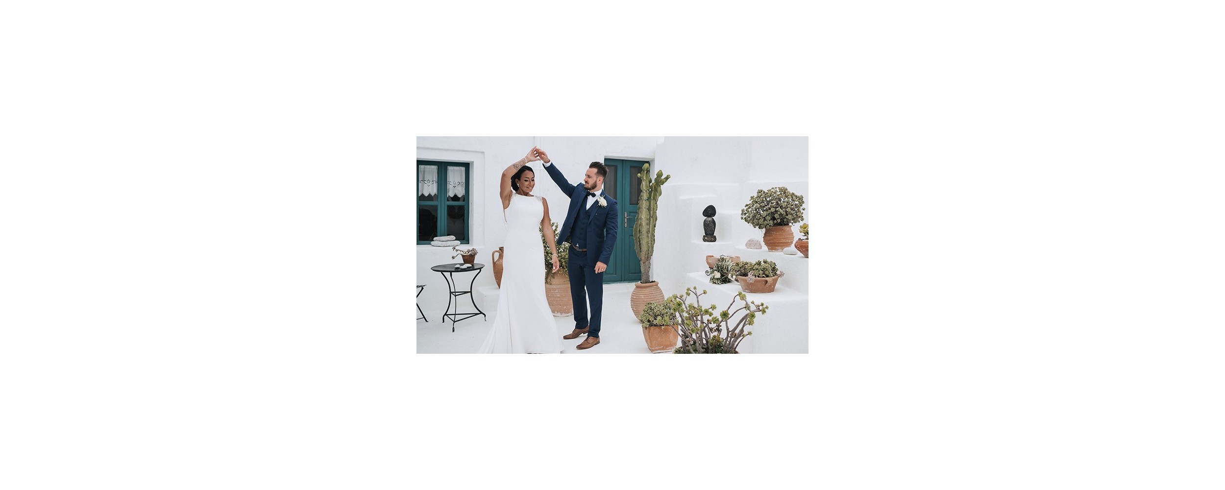 Se marier à Santorin