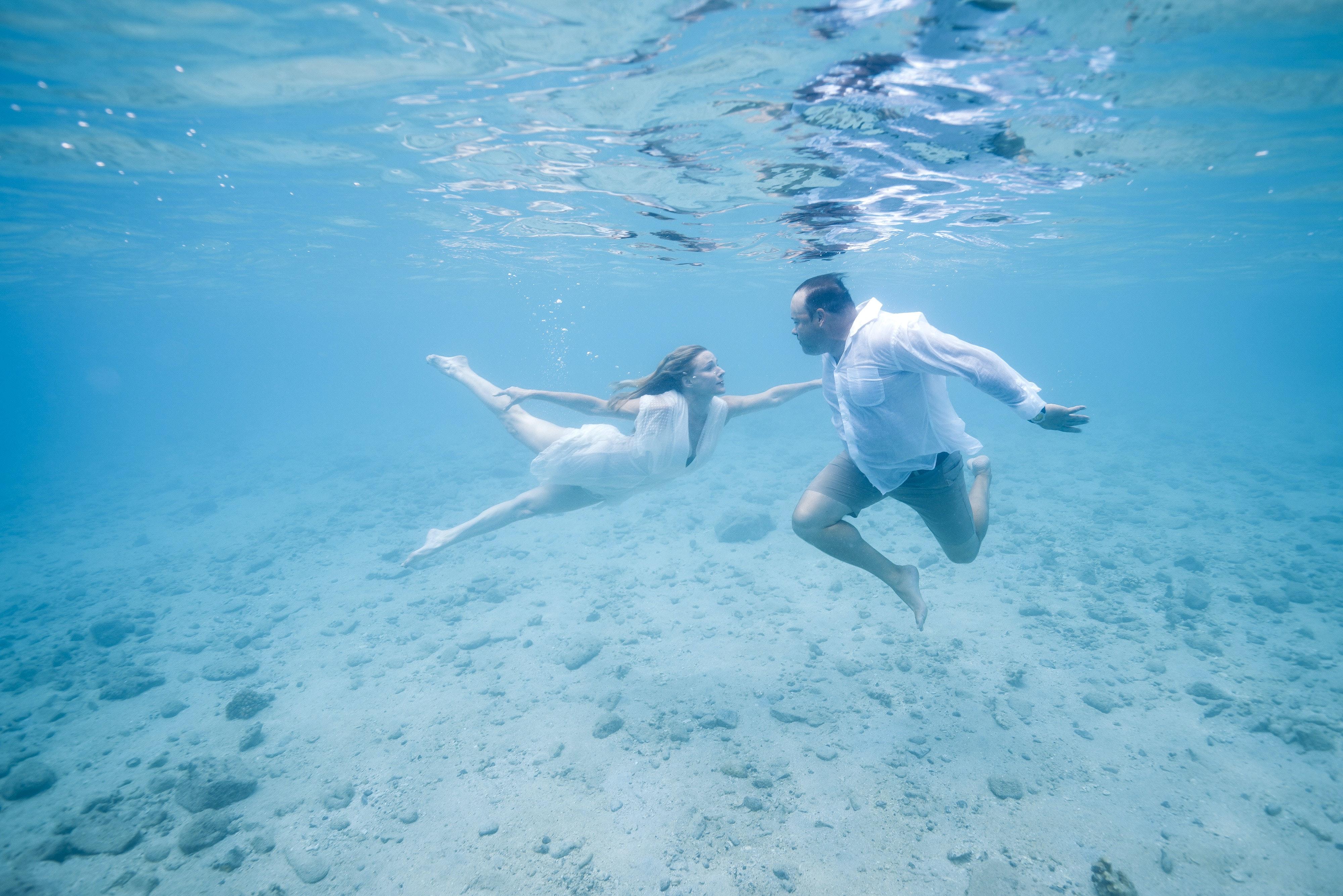 demande en mariage sous l'eau Corse