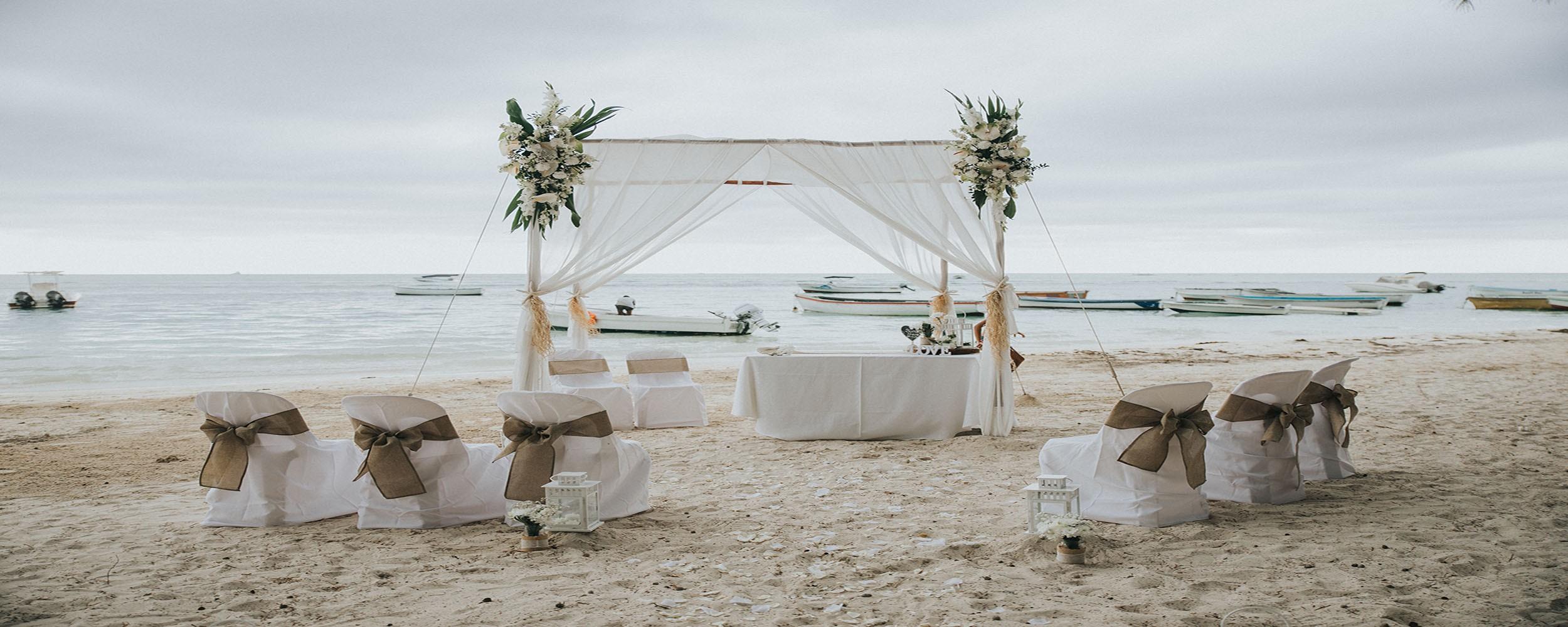 organisation mariage ile maurice sur la plage