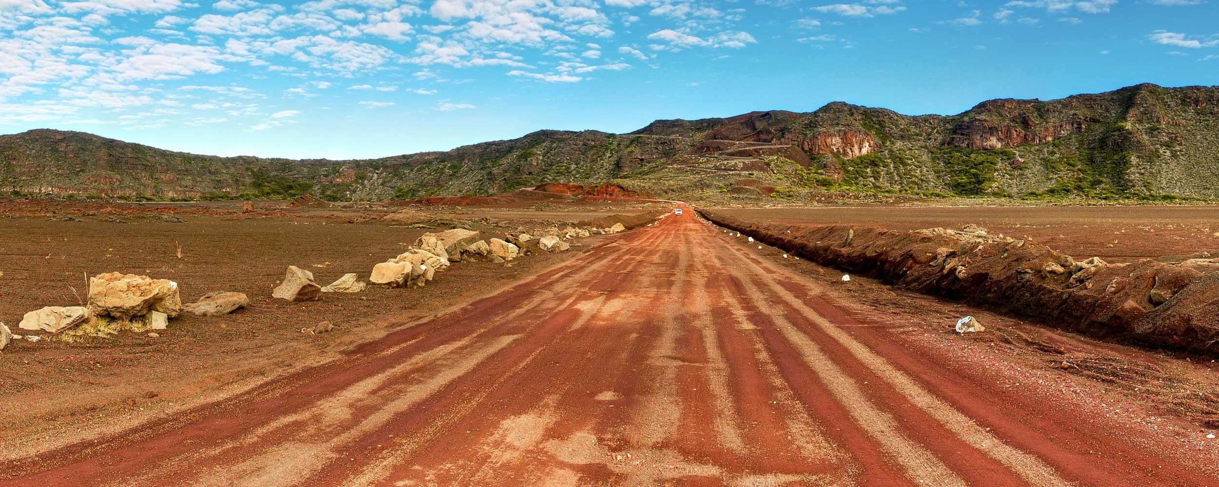 Plaine des Cafres à l'ile de la Réunion, endroit lunaire