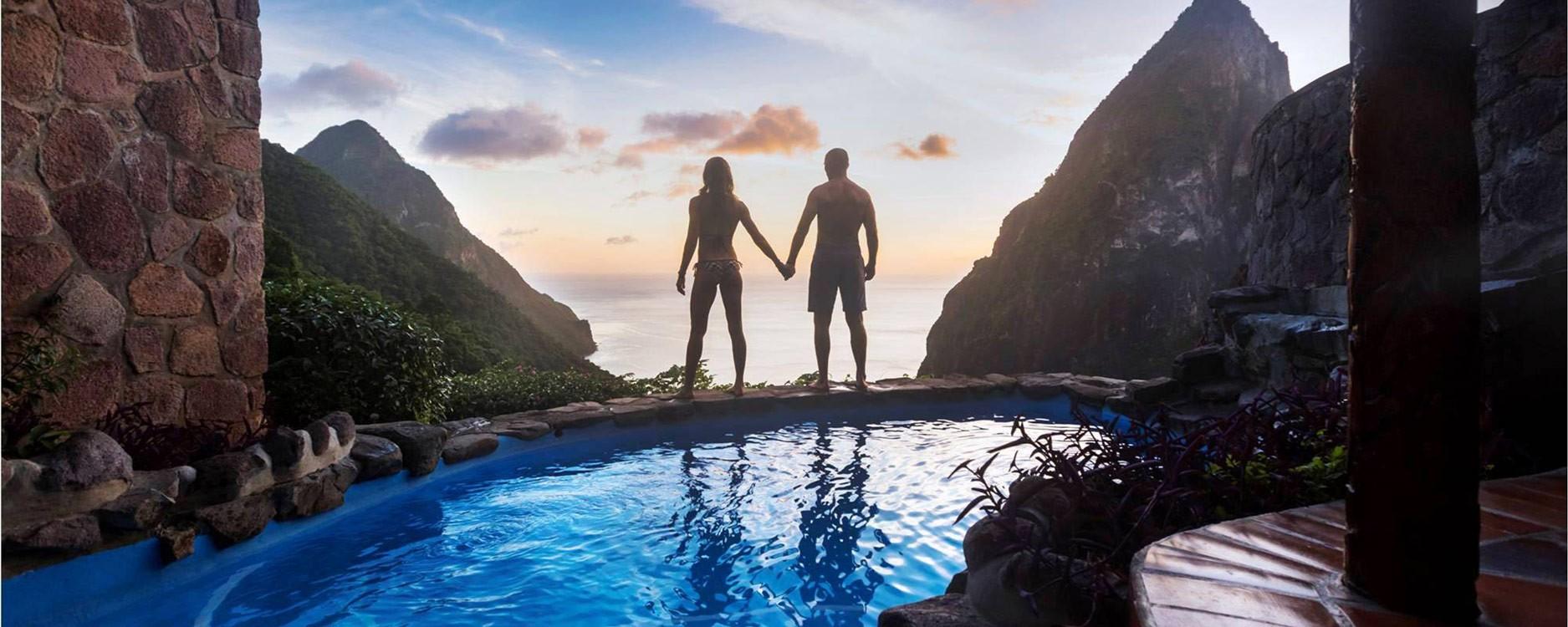 voyage romantique Sainte Lucie
